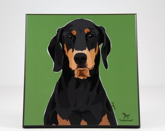 Doberman Laminted Picture