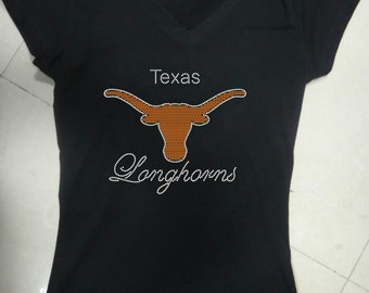 Bling Texas Longhorns T-Shirt Black