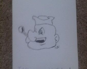 Homemade Popeye Card
