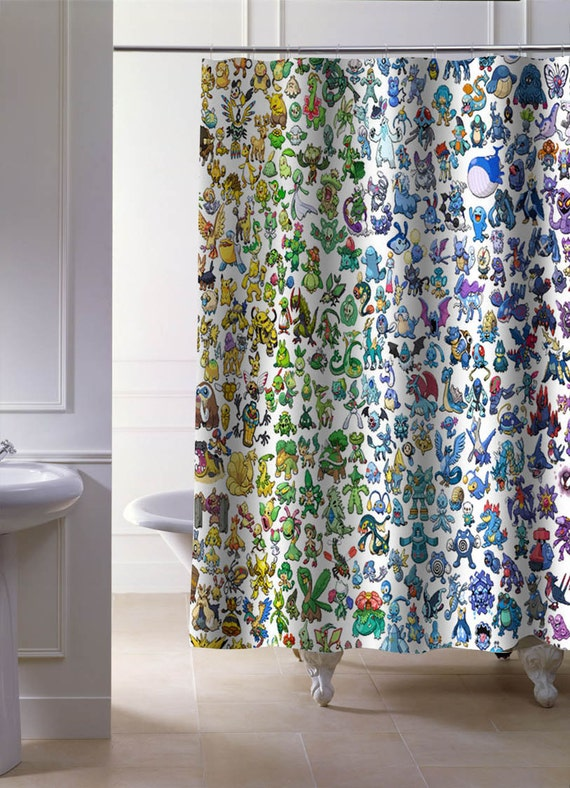 Pokemon All Shower Curtains By Ionecurtain On Etsy