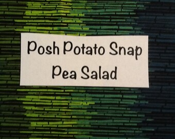 Posh  Potato  Snap  Pea  Salad