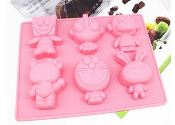 Cartoon Jelly Cake Recipe: Cartoon Silicone Mold, Fondant Cake, Chocolate, Baking