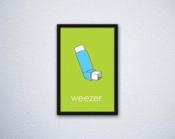 Minimalist Weezer Poster