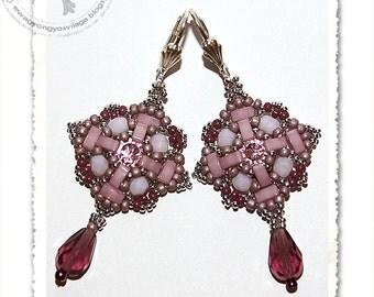 Selen beaded earrings PDF pattern