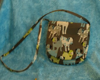 CLEARANCE:  20 PERCENT  DISCOUNT -- Novelty Cross-the-Body Bag, Messenger Bag, Dogs, Small Purse