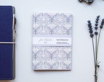 A6 Dusky Butterfly Pattern/Print | Eco Notebook by Jo Elise