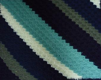 Crochet Baby Diagonal Afghan