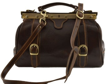 Leather Doctor Bag - Felix - Tuscan Leather, Genuine leather doctor bag 100% made in italy