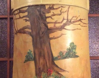 Antique Hand Painted Milk Can *pick up only*