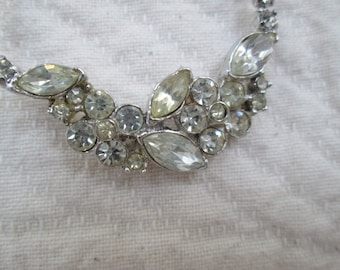 Vintage Rhinestone Necklace Wedding Party Special Occasion