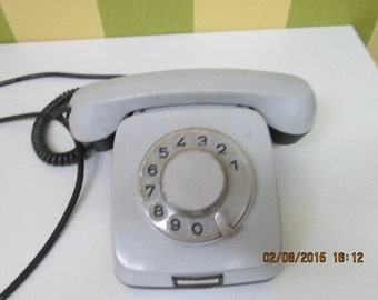 Vintage Rotary Phone, Retro Phone, Old Rotary Telephone, Dial phone TA-600 made in Bulgaria 1981, home decor