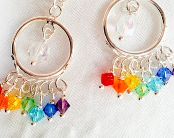 Rainbow Pride Swarovski & Czech Crystal Dangle Earrings