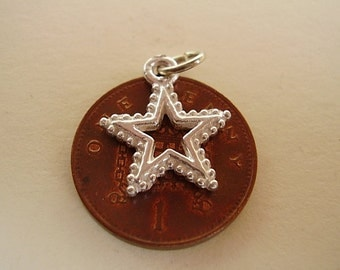 Sterling Silver Christmas Star Charm Charms
