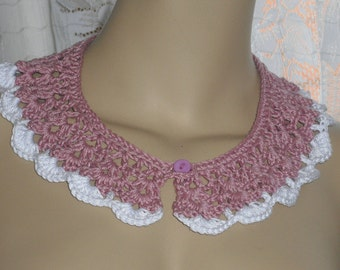 Crochet collar Peter Pan collar lace crochet