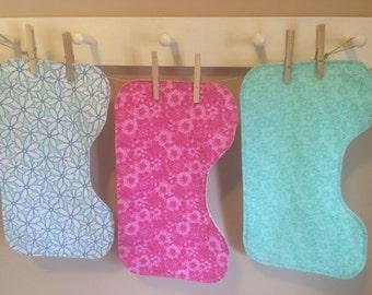 Set of 3 Floral Burp Cloths