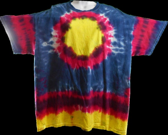 Beautiful Tie Dyed T-Shirt. Hand dyed with fiber reactive dyes in