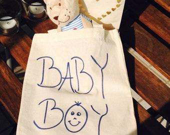 Small cotton bag - baby boy