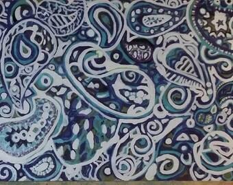 Paisley  wall art painting