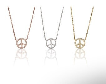 Peace Necklace 925 / Sterling Silver