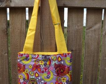 Handmade padded tote bag
