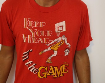 Vintage 80's Basketball T-shirt // Keep Your Head In The Game