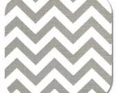 Premier Prints ZigZag Chevron in Grey Ash/White Slub Home Decor fabric, 1 yard