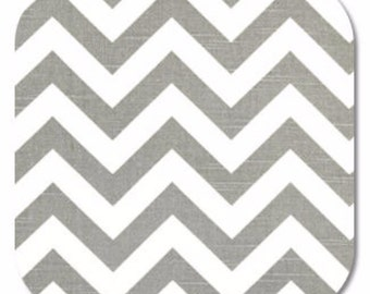 Premier Prints ZigZag Chevron in Grey Ash White Slub Home Decor fabric, 1 yard