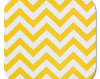 Premier Prints ZigZag Chevron in Yellow/White Slub Home Decor fabric, 1 yard