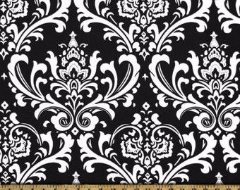 Premier Prints Ozbourne in Black Home Decor 7 oz Cotton fabric, 1 yard