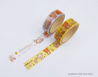 Rilakkuma masking tape v1 2 in 1 | Rilakkuma washi tape 2 in 1 v1 | Rilakkuma paper tape 2 in 1 v1