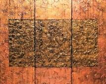 "Original Art on Canvas - ""Bronze"""