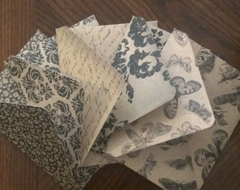 4-Bar Envelopes Vintage Patterns- Set of 10