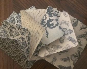 4-Bar Envelopes Vintage Patterns- Set of 10