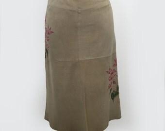 Massimo Dutti Goatskin Skirt
