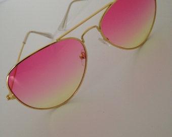 Sunglasses, Women's Photocromic Sea gradient  Aviator Sun Glasses