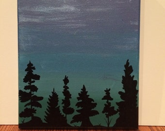 Forest Silhouette Canvas