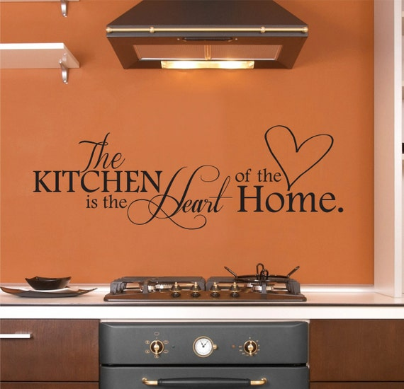 The Kitchen Is The Heart Of The Home Wall By Rusticahomedecor