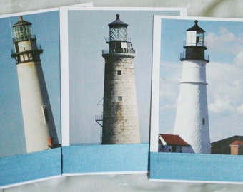 Lighthouse Upcycled Notecards Set of 12