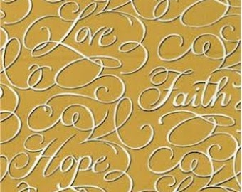 Faith, Hope and Love-Elegant Baby Crib Sheet-Gold by Dance With Joy Baby Bedding