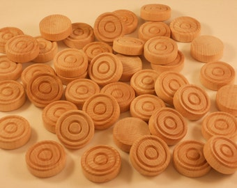 100 Wood Checkers, Unfinished Checkers, Wooden Checkers, Checkers, Backgammon Pieces