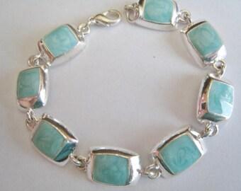 Silver Tone w/ Blue Accents Bracelet