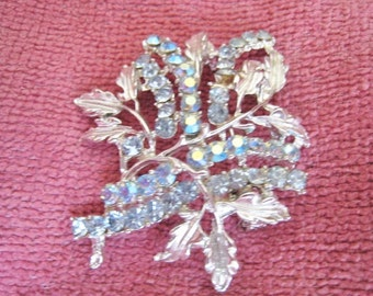 Blue & Silver Tone Fashion Pin