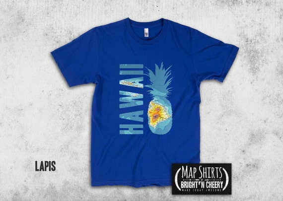 Hawaii graphic tee pineapple t shirt hawaiian shirt maui i for Hawaiian graphic t shirts