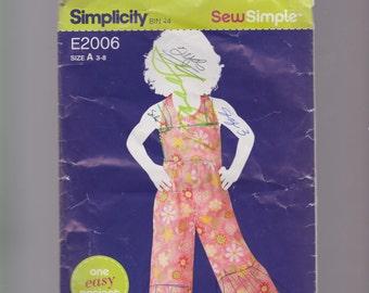 Girls sew simple jumpsuit