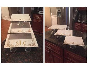 Laser cut dessert stand