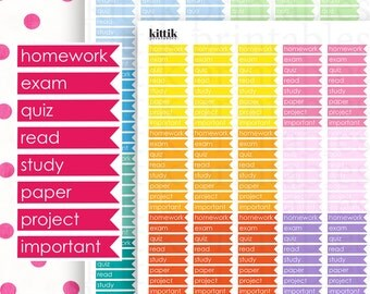 College/Student Flags    Printable Planner Stickers    Instant Digital Download