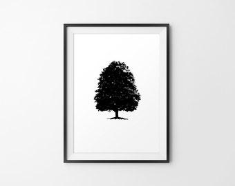 Tree Art, Tree Silhouette, Tree Minimal Art, Tree Wall Decor, Tree Wall Decor, Tree Wall Art, Tree Print, Tree Home Decor, Tree Decor