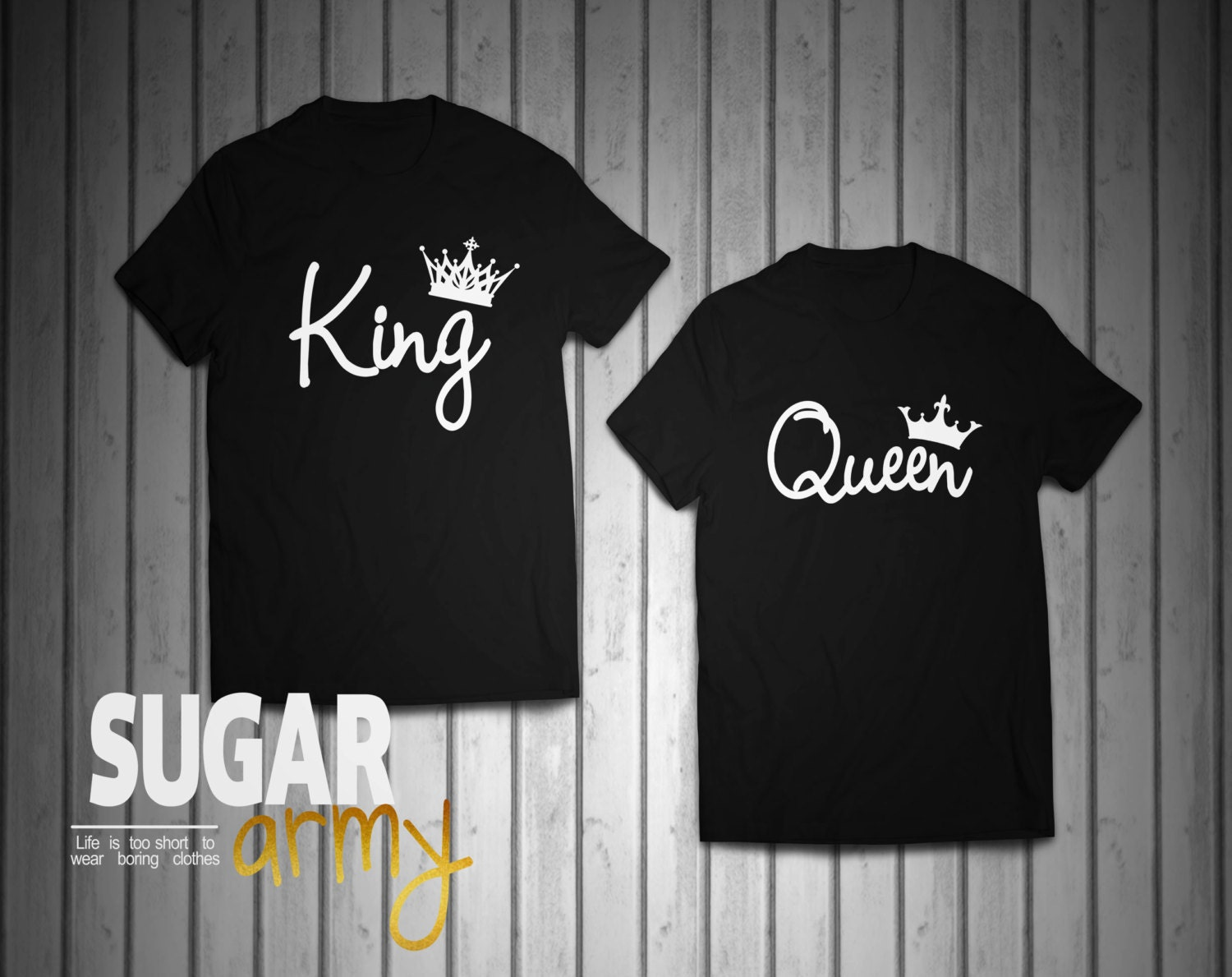 Black queen t shirt -  Zoom