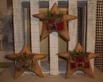 Primitive Handmade Star Tuck