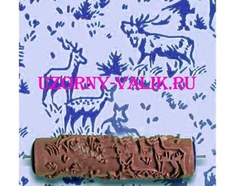 The patterned paint roller Deer